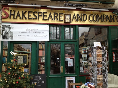 Shakespeare and Co Bookstore, Paris (c) JP Mundy 2012