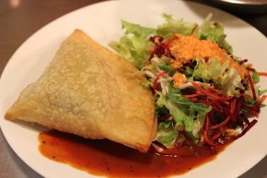 Yummy samosas are just some of the delicacies which can be found at Govinda's Restaurant in Brisbane. This image is from the Brisbane Govindas website.