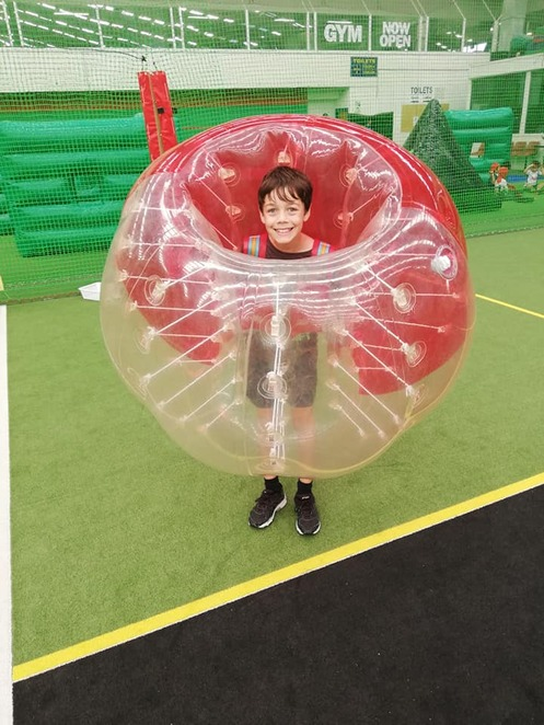 Bubble soccer at Springvale Indoor Sports