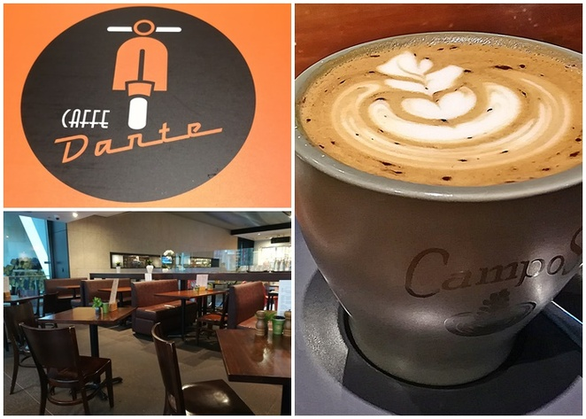 caffe dante, sydney, midcity centre, george street, pitt street, uniqlo, outside uniqlo, coffee, breakfast, lunch, coffee, places to eat, inside, cosy, views, upstairs, italian, meals, vegetarian, healthy, campos coffee,