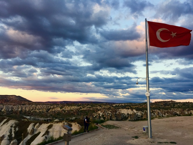 Cappadocia, Kappadokya, Turkey, Göreme, Hot Air Ballon, Sunset Point, Viewpoint, Lookout