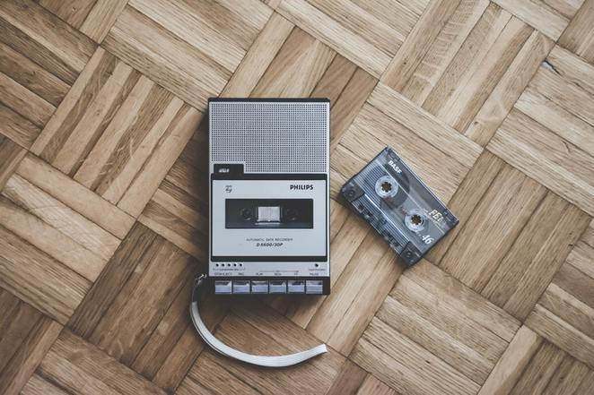 cassette, player, tape, audio