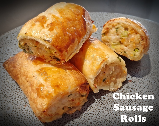 chicken sausage rolls, sausage roll recipe, best sausage roll recipe, sausage roll recipe, australia, kids, family, healthy, lunch, dinner, pastry,