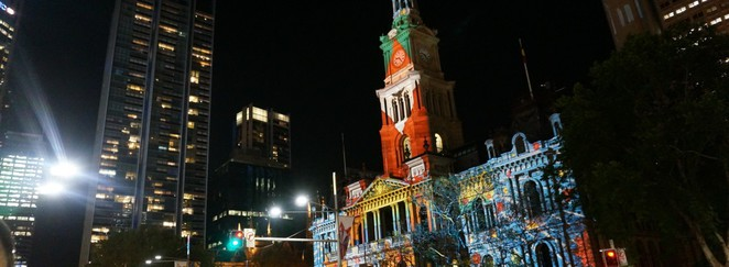 Christmas Projections @ Sydney Town Hall