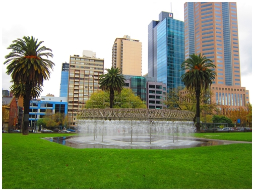 Coles Fountain, Parliament Reserve Gardens, Melbourne water feature,