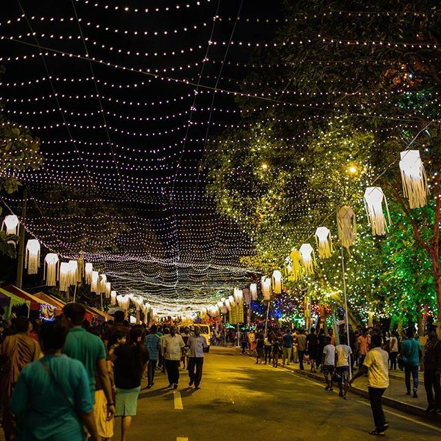 colombo nightlife during vesak season