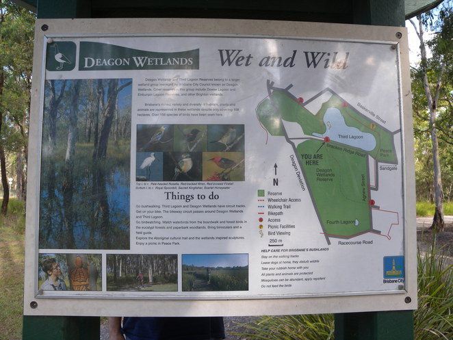 Deagon Wetlands Map showing Fourth Lagoon