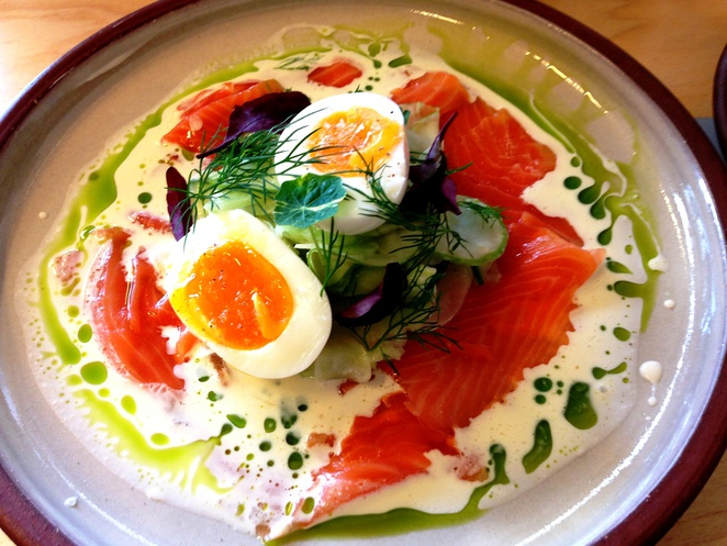 Fennel and Smoked Salmon at Devon Cafe