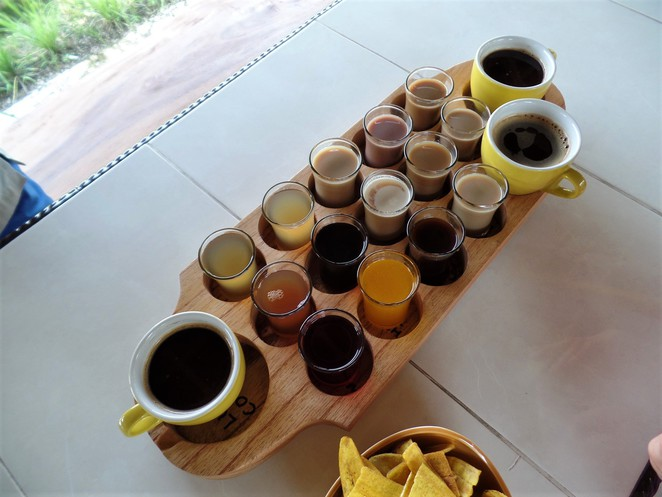 free samples at Lumbung Sari House of Coffee in ubud bali