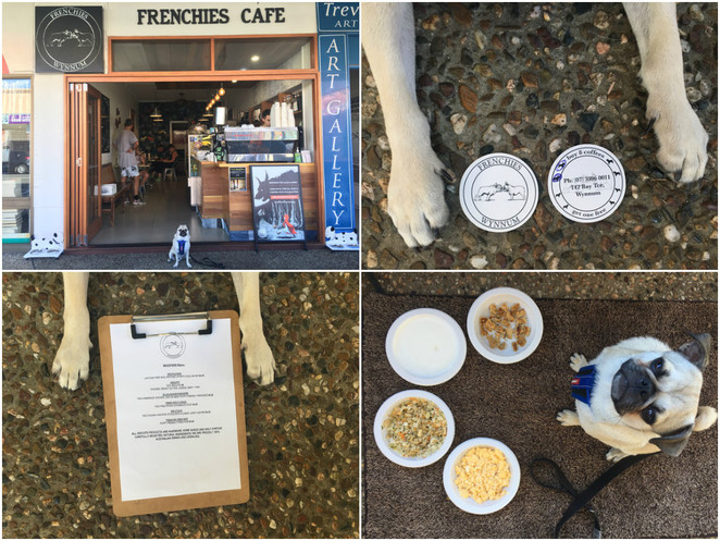 frenchies cafe, wynnum, manly, cafe, dog friendly, dog cafe, brisbane, eastern suburbs, southern suburbs, bayside, moreton bay, redlands, coffee, breakfast, brunch, open early, 5am, dog menu, dog merchandise