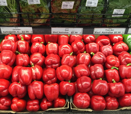 Lovely,capsicums,imported,from,New,Zealand