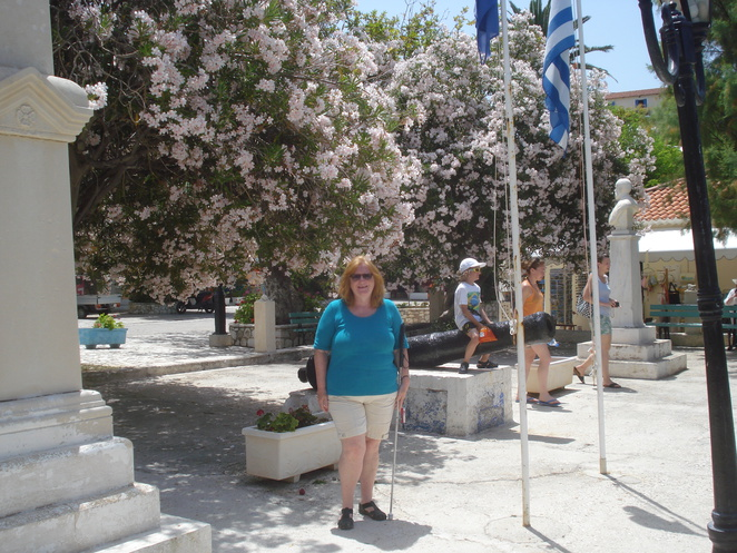 m by the flowering trees at assos