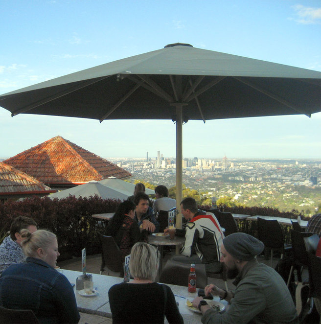 Kuta Cafe on the summit of Mt Coot-tha has the best views in Brisbane