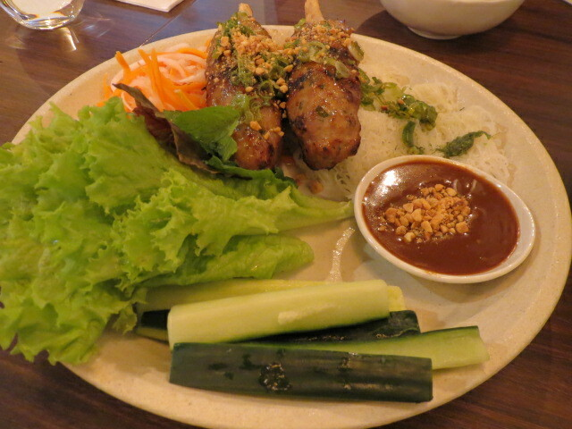 Ong Vietnamese Kitchen, Sugarcane Pork with Weaved Vermicelli, Adelaide