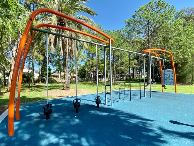 Updated exercise equipment now means this park has both cardio and weights training areas