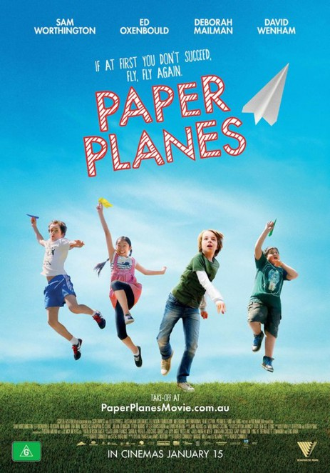 paper planes, sam worthington, david wenham, ed oxenbould, deborah mailmain, film review, movie review