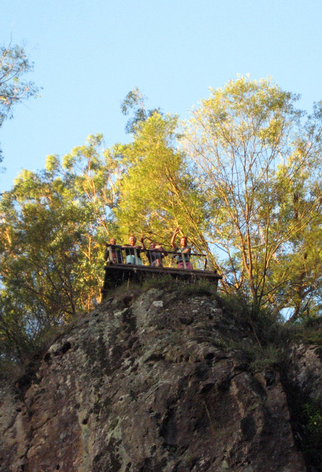 The viewing platform at Queen Mary Falls