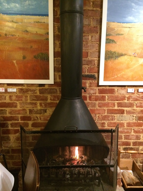 Roaring fire at The Whistlestop
