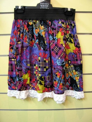 Skirt from retro material