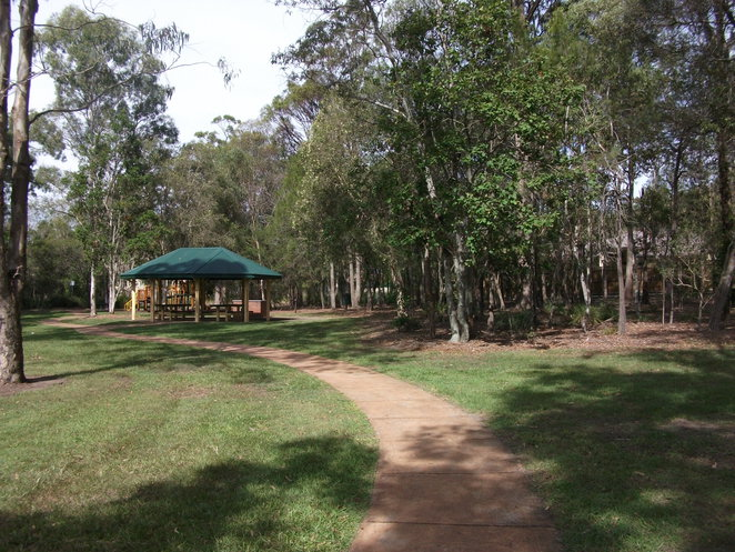 Stretton Community picnic area, barbecue, water, playground, reflexology walk,