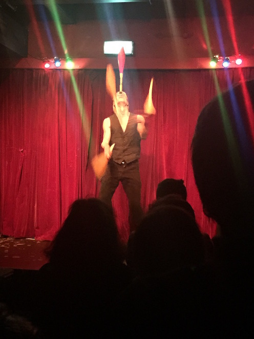 Theatre shows, cabaret, performance, live show, performing arts, Guinness World Records winner, Aerial Manx, acrobatic, sword swallower, contortionist,