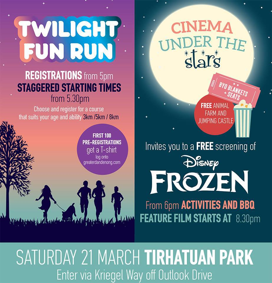Twilight fun run cinema under the stars tirhatuan park melbourne large image voltagebd Images