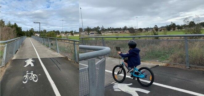 Westlink M7 Shared path Prestons