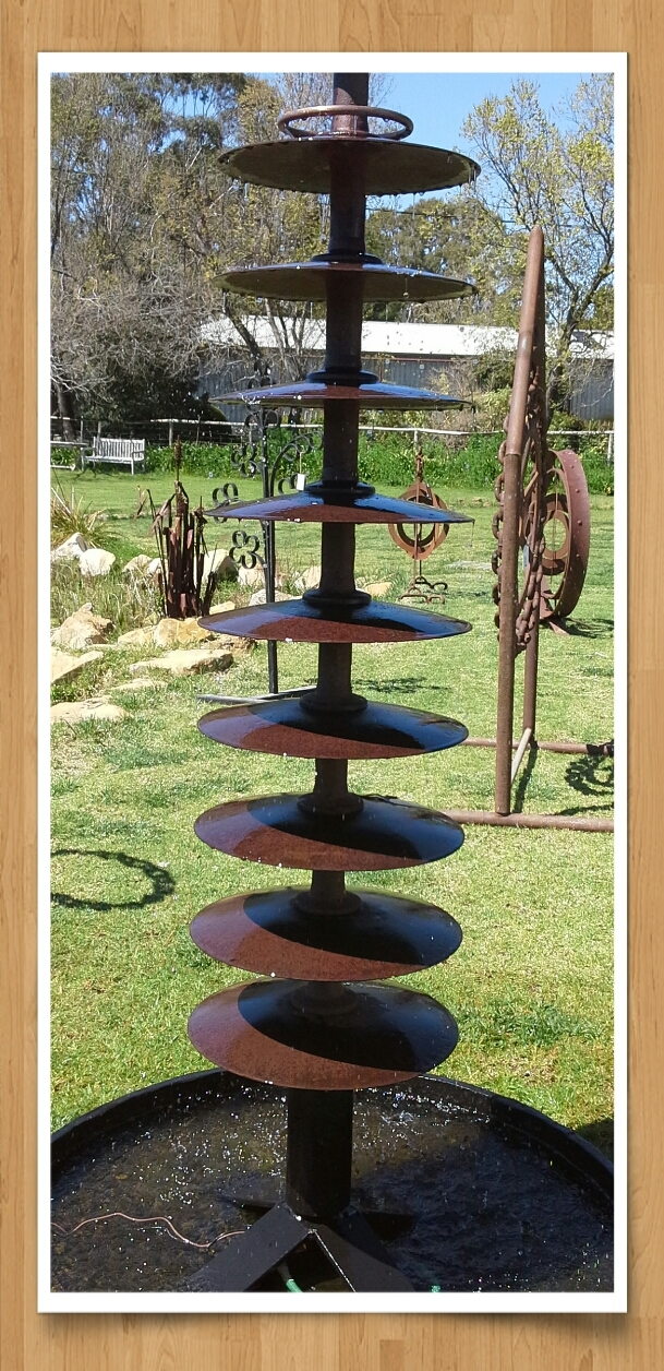 Whadabout sculptures south australia for Garden water features adelaide