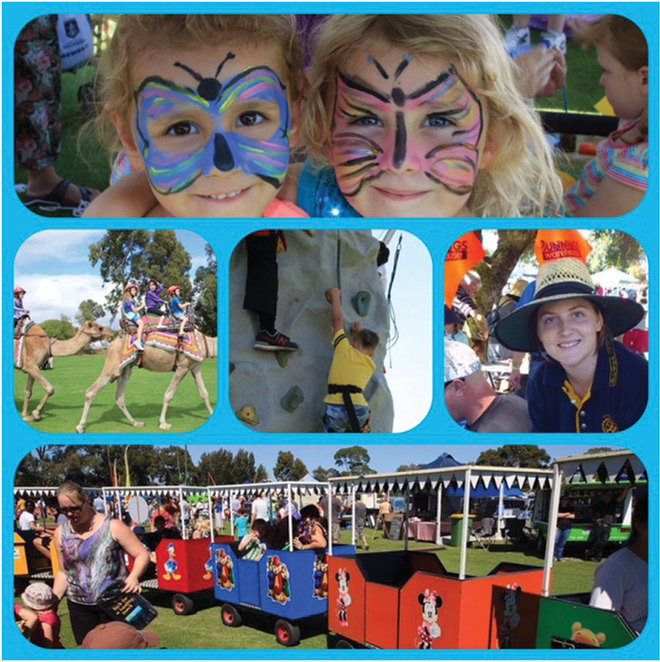 Willetton Rotary Community Fair 2018, show bags, rides and children's activities
