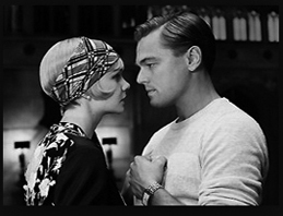 Leonard DiCaprio as Gatsby with Carey Mulligan as Daisy