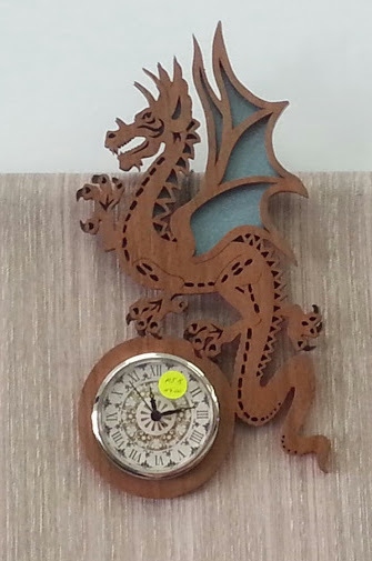 Wood, Dragon, Clock, Maree's Wood & Watches, Redcliffe Markets
