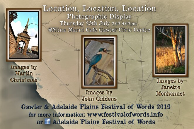 Adelaide Plains, Festival of Words, 2019, photographic display
