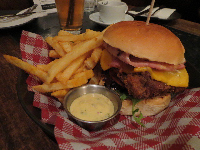 Archer Hotel, Fried Chicken Burger, Adelaide