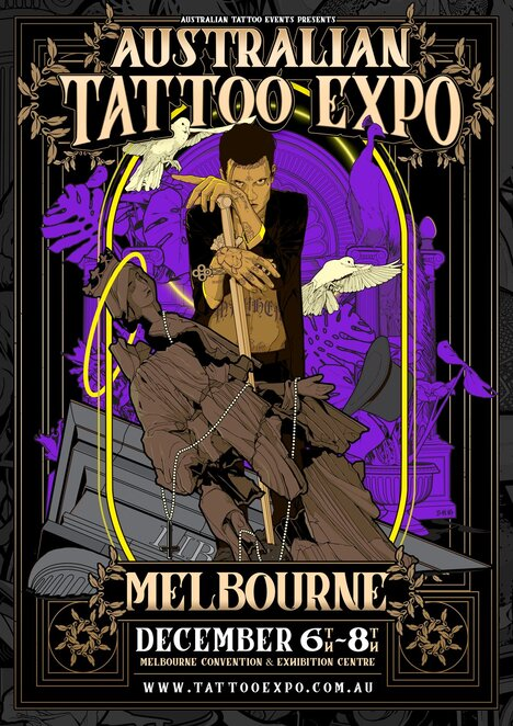 australian tattoo expo melbourne 2019, community event, fun things to do, body art, body adornment, art, melbourne convention and exhibition centre, mcec, australian tattoo events, tatsup, tattoo artists, tattooing live, tattoo competitions, meet the artist