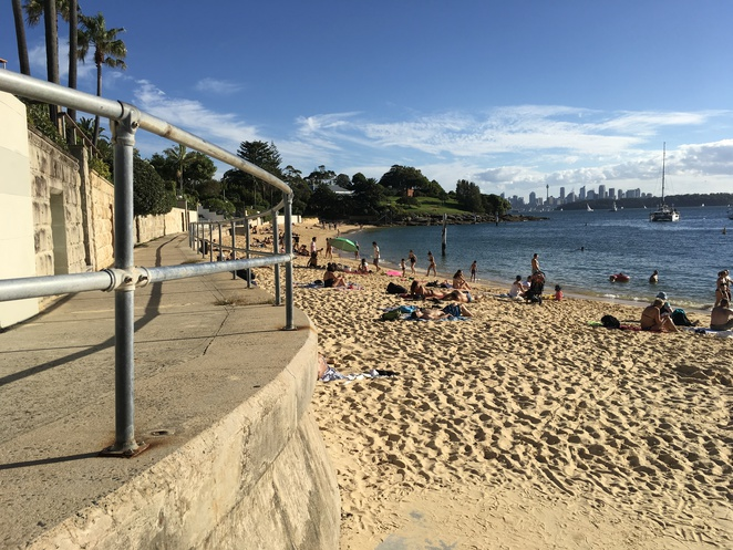 Camp Cove Watsons Bay swimming ,cafe. Beach,amenities.