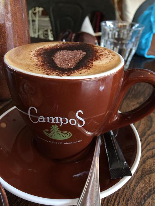 campos, coffee, chocolate, the vintage goose, restaurant, cafe, kyle bay