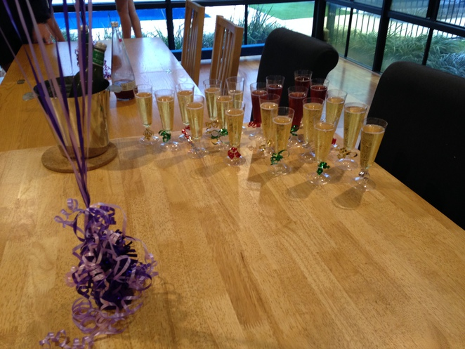 champagne flutes, fizzy apple juice, teenage birthday, birthday party, purple stretch hummer, showtime limousines, different idea for party