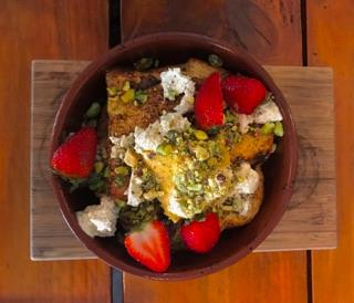 Charlie Lovett, Breakfast Cafe, Melbourne south wharf, French toast,