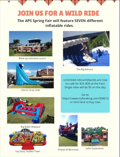 Inflatable rides on offer