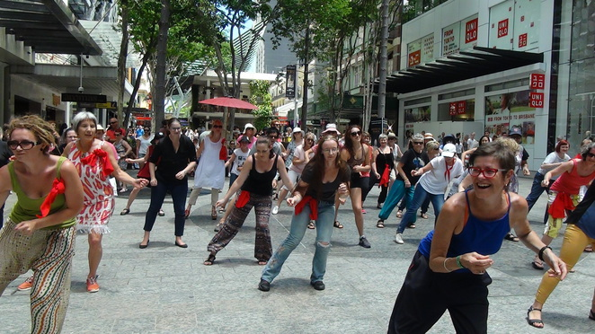 flash mob, rise up and dance, one billion rising, nia