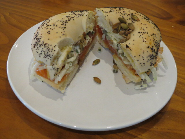 Frankly Bagels, Smoked Salmon Bagel, Adelaide