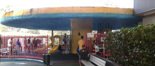 giant mushroom playground, belconnen fresh food markets, belconnen, parks, playgrounds, indoor playgrounds, ACT, canberra,
