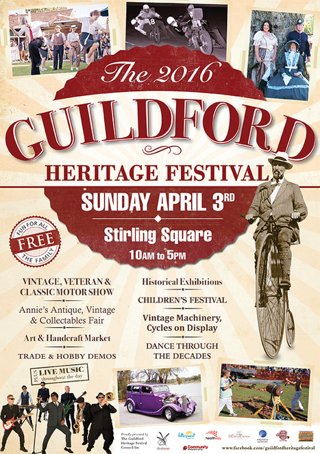 Guildford Heritage Festival 2016, Johnny Young, Exhibitions, Stalls, Live Music, Wood chopping