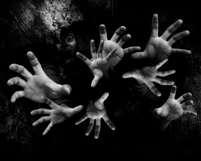 hands,ghostly,black,haunted