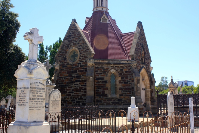 The chapel is a rare example of a mortuary chapel in an Australian cemetery