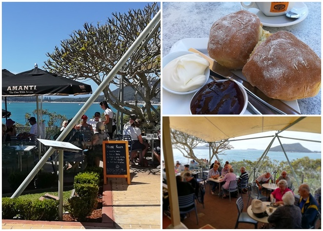 inner light tearooms, port stephens, nelson bay, shoal bay, views, scones, best cafes, best cafes with views, best coffee, best, little beach,