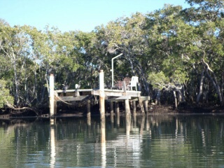 Jetty along Cabbage Tree Creek