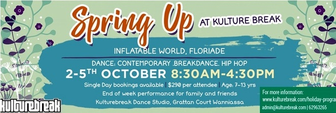 kulture break, canberra, ACT, dance classes, school holiday program, october, spring, kids, dancing lessons,