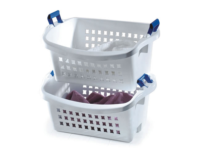 Laundry, Laundry Basket, Stack and Sort, Rubbermaid, laundromat, stacking basket, sorting basket