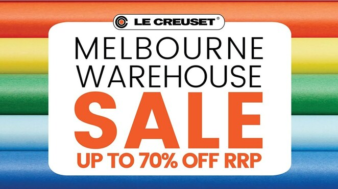 le creuset melbourne warehouse sale 2019, community event, fun things to do, shopping, homewares, kitchenware, le creuset australia, melbourne showgrounds, ascotvale, premium cookware sale, agricultural hall, cast iron cookware, stoneware, enamel on steel cookware, stainless steel cookware, toughened non stick cookware, tools and wine accessories, free vent